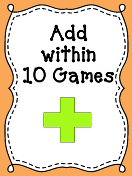 Math Games: Addition within 10