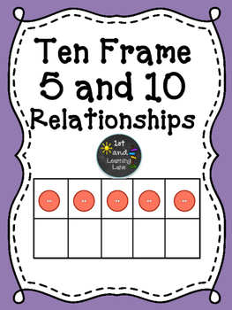 Math Games: Ten Frame 5 and 10 Relationships Puzzle FREEBIE