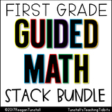 First Grade Guided Math Stack Bundle