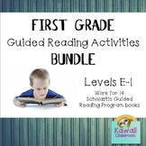 First Grade Guided Reading Activities Bundle (Levels E-I)