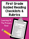 First Grade Guided Reading Checklists and Rubrics