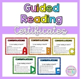 Guided Reading Level Certificates A-I With Parent Descriptors