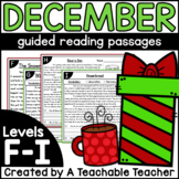 First Grade Guided Reading Passages for December Levels F-I