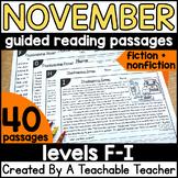 1st Grade Thanksgiving Reading Comprehension