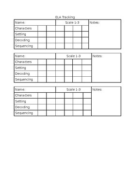 First Grade Guided Reading Tracking
