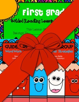 First Grade Guided Reading Word Work Strategies/ Lesson Plan Book Bundle
