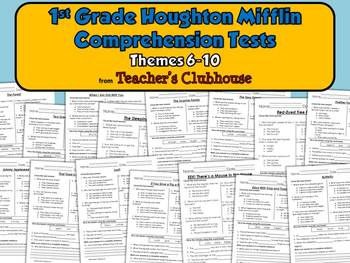 First Grade HM Comprehension Tests - Themes 6-10
