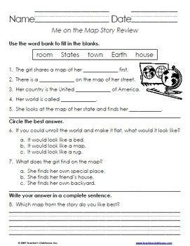 First Grade HM Story Review Sheets - Themes 1-5