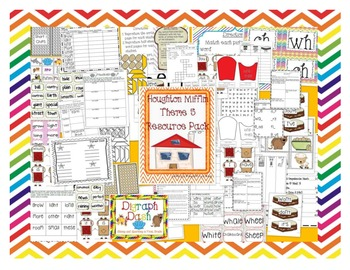 First Grade HM Themes 1-5 Resource Packs Bundle