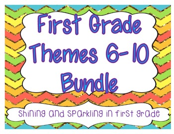First Grade HM Themes 6-10 Resource Pack Bundle
