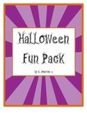 First Grade Halloween Fun Pack