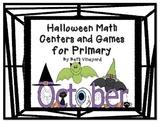 Halloween Math Center and Activities