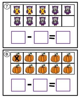 First Grade Halloween Math Centers
