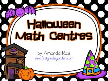 First Grade Halloween Math Centres