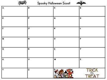 First Grade Halloween Math Recording Sheet