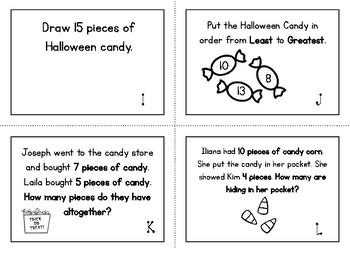 First Grade Halloween Scoot Task Cards