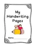 First Grade Handwriting Packet