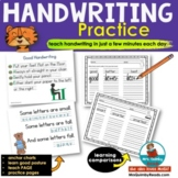 Handwriting Practice | Comparison Words | Printable