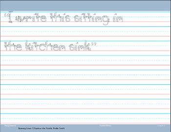 First Grade Handwriting Practice/ Copywork