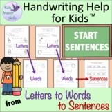 First Grade Handwriting - START SENTENCES Workbook