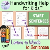 First Grade Handwriting - START SENTENCES Workbook