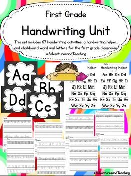 First Grade Handwriting Unit {Sight Words}