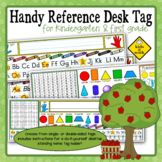 Handy Reference Desk Tag / Name Tag for First Grade & Kindergarten