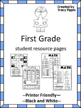 first grade help pages for reading and math folders homework folder. Black Bedroom Furniture Sets. Home Design Ideas