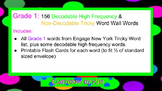 First Grade: High Frequency & Tricky Word Assessment and F