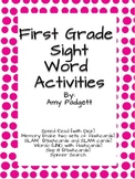 First Grade High Frequency Word Activities and Flashcards