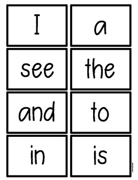 First Grade High Frequency Word Homework and Assessments Week 1 Freebie
