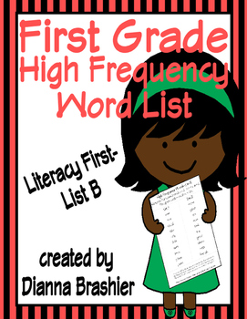 First Grade Sight Words List B (Literacy First) Word List
