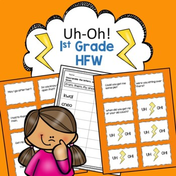 First Grade High Frequency Words Reading Fluency Practice Uh-Oh!