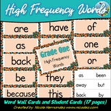 Sight Words / High Frequency Words - First Grade {Safari Themed}