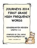 First Grade High Frequency Words for Journeys 2014/2017