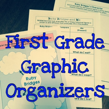 First Grade Historical Figures Graphic Organizer Bundle