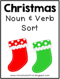 First Grade Holiday Noun and Verb Sort