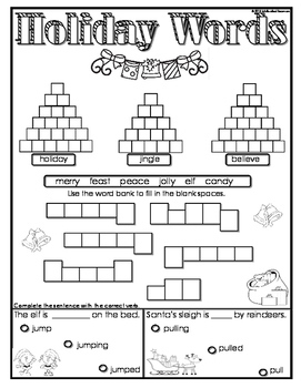 First Grade Holiday Winter Packet