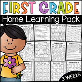 First Grade Home Learning Pack - Distance Learning