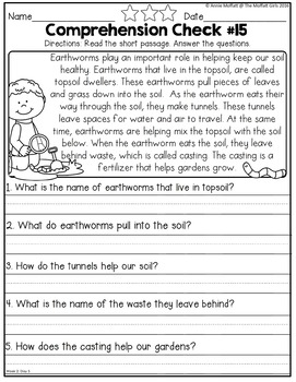 First Grade Home Learning Packet NO PREP Distance Learning