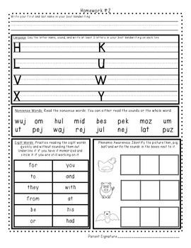 First Grade Homework 1-8