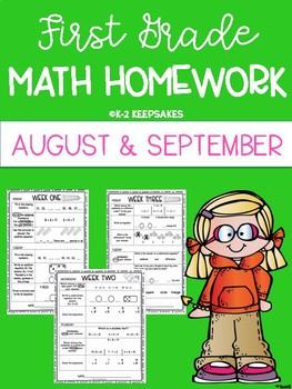 First Grade Homework AUGUST/ SEPTEMBER