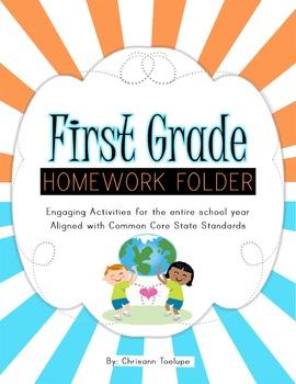 First Grade Homework Activities-Year Pack