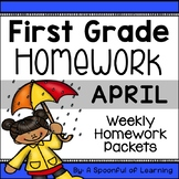 First Grade Homework - April