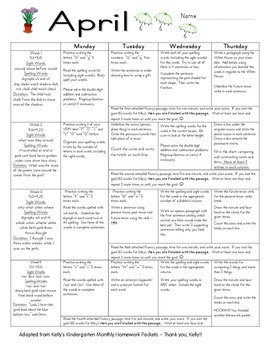 First Grade Homework - April - Supports SRA Imagine It! & EnVision Math
