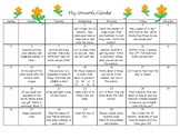 First Grade Homework Calendar - May 2019