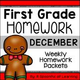 First Grade Homework - December