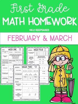 First Grade Homework FEBRUARY/ MARCH