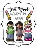 First Grade Homework Folder Helpers