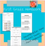 First Grade Homework Form